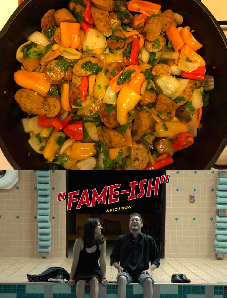 Food Dinner-&-A-Movie!-Sausage-&-Peppers,-and- Fame-ish!