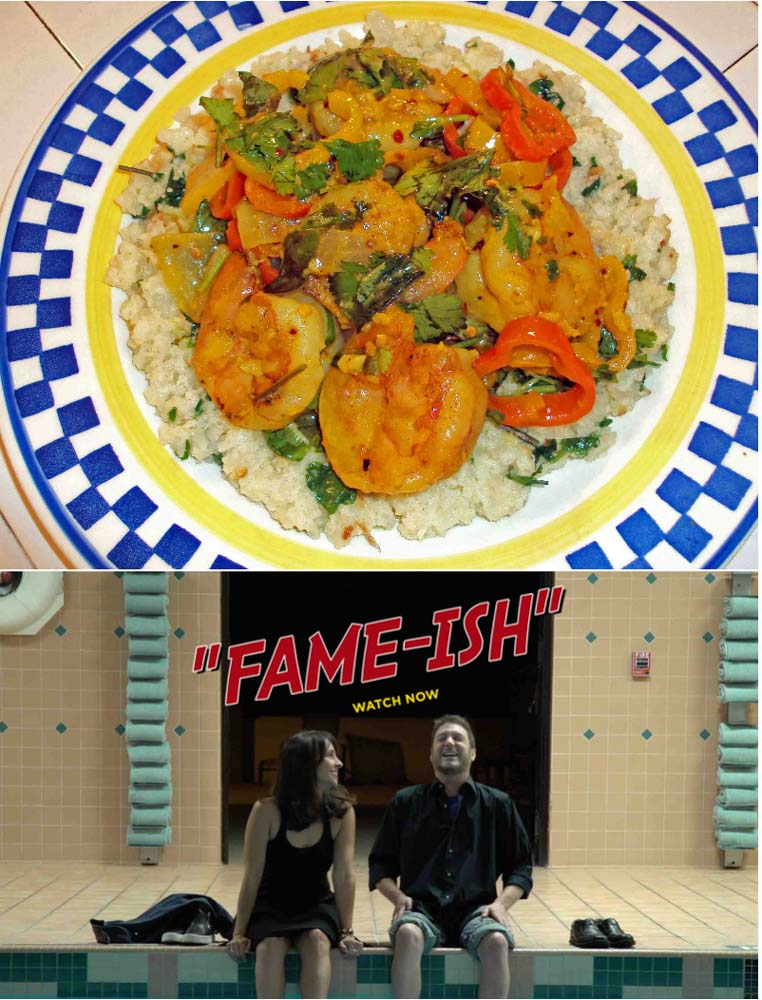 Food Dinner-&-A-Movie!-Shrimp-Curry,-and- Fame-ish!