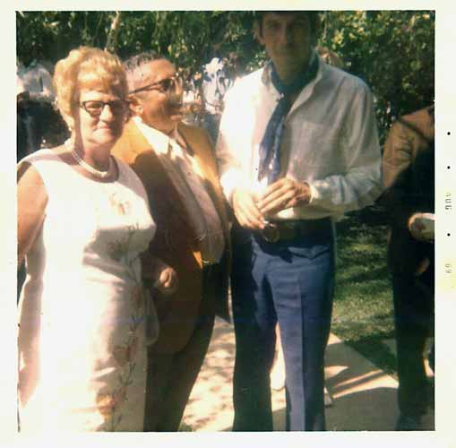 Leonard Nimoy with his proud Aunt & Uncle (& Jeff Nimoy's Grandparents)